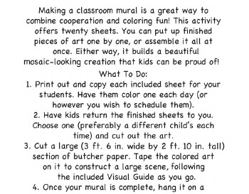 March: March Mural - Activity for Class teaching resource