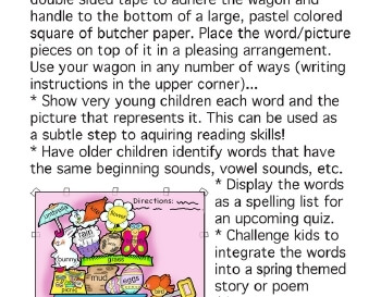 teach March: Words for Spring Bulletin Board