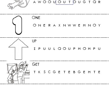 March: Circle the Word worksheet