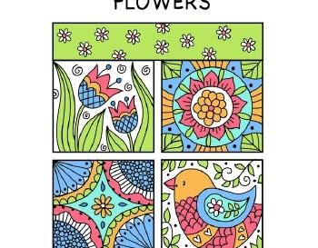 teach March: Doodle Quilt Flowers
