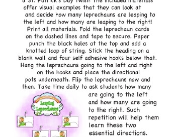 teach March: Leaping Leprechauns