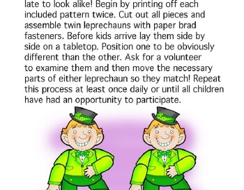 teach March: Look Alike Leprechauns