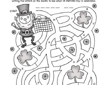 teach March: St. Patrick's Day Mazes