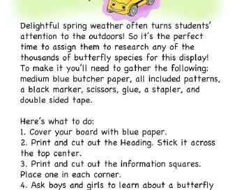 teach March: Research Butterflies
