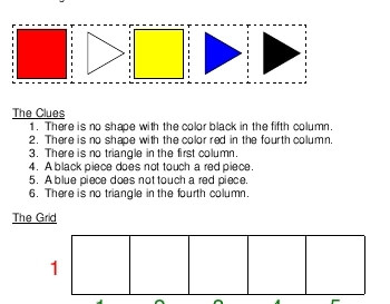 March: Logic Shapes - Easy Puzzle with One Row worksheet