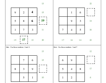 teach March: Addition Squares