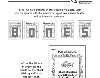 teach March: Math Shark Fun