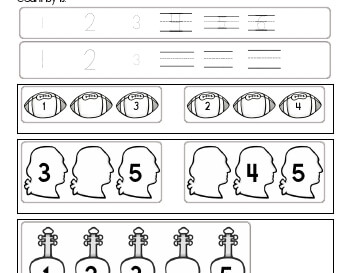 Counting by ones worksheet
