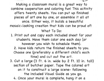 February: January Mural - Activity for Class worksheet
