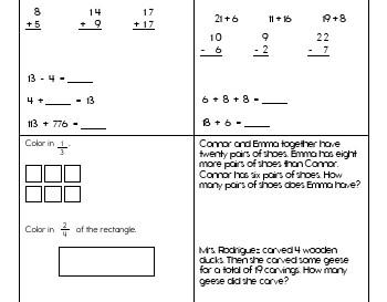 teach March: Math Practice