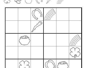 March: St. Patrick's Day Sudoku worksheet