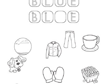 Coloring and Missing Letters in Color Words worksheet