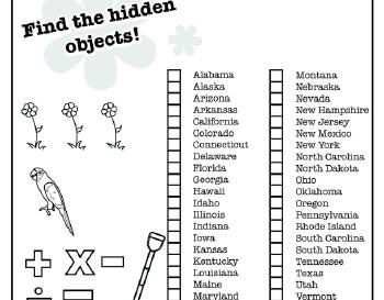 teach April: Hidden Pictures: April Themes Puzzle