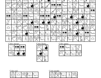 Visual Perceptual Skills: Find and Color in Patterns worksheet