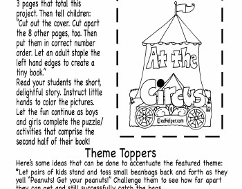 April: Circus Mini Book teaching resource