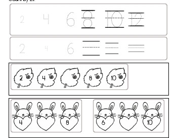 teach April: Count by 2s