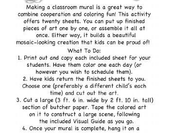 teach April Kindergarten Mural - Activity for Class