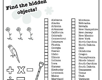 teach April: Hidden Pictures: April Themes Puzzle