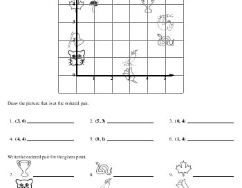 April: Ordered Pairs Printables with Pictures teaching resource