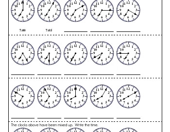 teach April: Clocks and Counting by Fives and Tens