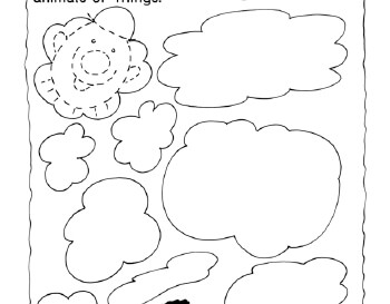 April: Clowning with Clouds Drawing Page teaching resource