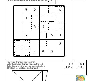 April: Sudoku Sums worksheet