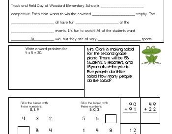 Missing Words worksheet