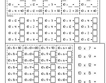 teach April: Multiply Tens