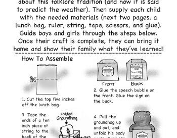 teach Groundhog Day Craft