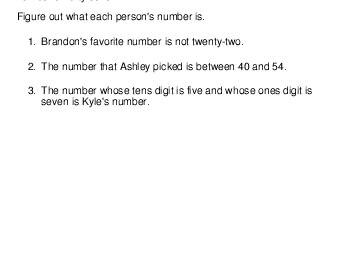 teach April: Logic Puzzle: Each Peron's Number