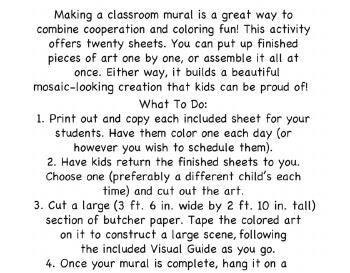 February Kindergarten Mural - Activity for Class worksheet