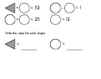 April: Algebra: Unknown Shape Equations worksheet
