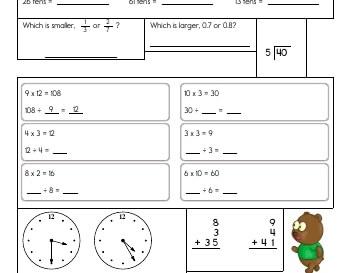 teach April: Homework Mix