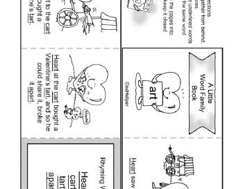 Valentine's Day Little Word Family Book worksheet