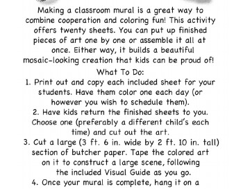 teach May Kindergarten Mural - Activity for Class