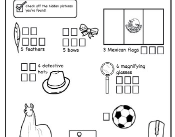 Hidden Pictures: May Theme Puzzle worksheet