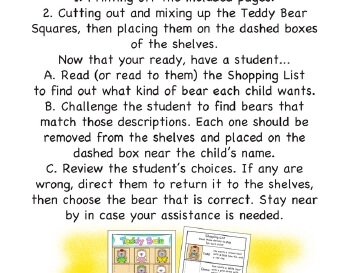 teach May/June: A Teddy Store Sale - Pretend Play
