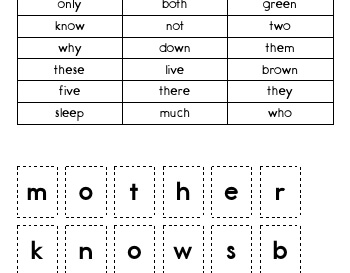 teach May/June: Making Words