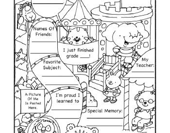 End of School Sheet worksheet