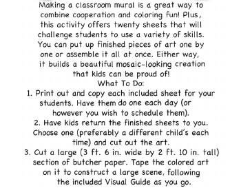 May/June: May First Grade Mural - Activity for Class teaching resource