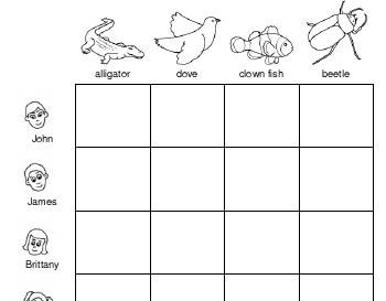 teach Logic Puzzle: Favorite Animals
