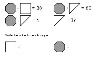 May/June: Algebra: Unknown Shape Equations teaching resource