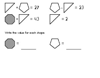 teach May/June: Algebra: Unknown Shape Equations