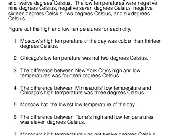 May/June: Logic Puzzle: High and low temperatures teaching resource