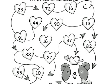 Valentine Math teaching resource
