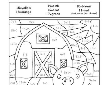 teach Farm Math Activities