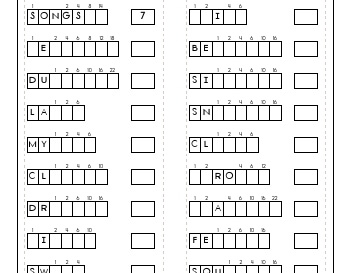 July/August: What Words?  Your Words?  Word Puzzle worksheet