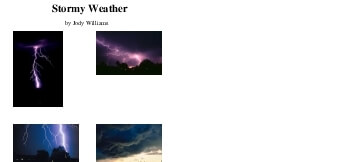 July/August: Stormy Weather worksheet