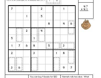 teach July/August: Sudoku Sums