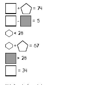 teach July/August: Algebra: Unknown Shape Equations